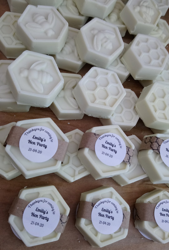 Soap wedding party favours